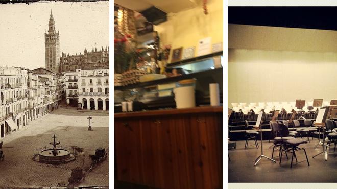 Plaza ⇨ Tapas restaurant ⇨ Performing arts venue