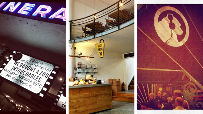Catch a movie ⇨ Coffee shop ⇨ Bar