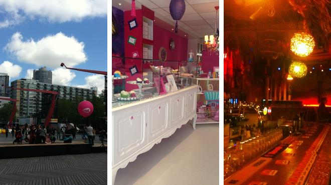 Plaza ⇨ Cupcake shop ⇨ Bar