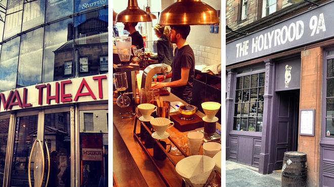 Theater ⇨ Coffee shop ⇨ Pub