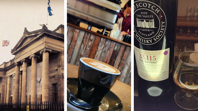 Admire art ⇨ Coffee shop ⇨ Whisky bar