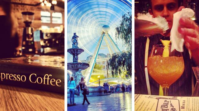 Coffee shop ⇨ Park ⇨ Delicious Cocktails