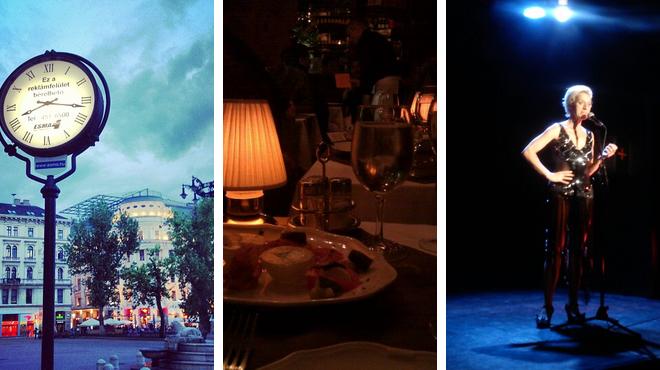 Plaza ⇨ Mediterranean restaurant ⇨ Theater