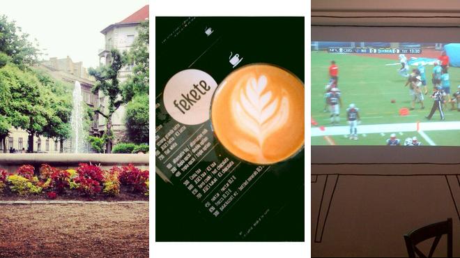 Park ⇨ Coffee shop ⇨ Pub