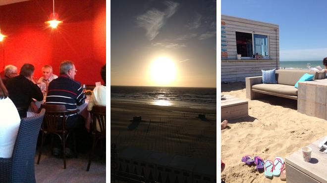 Restaurant ⇨ Pedestrian plaza ⇨ Beach bar