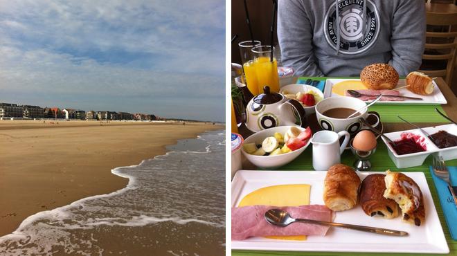 Beach ⇨ Breakfast spot