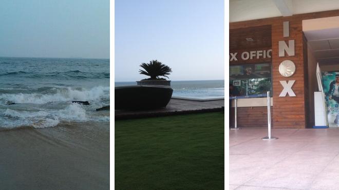 Beach ⇨ Restaurant ⇨ Catch a movie