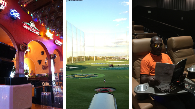Mexican restaurant ⇨ Golf course ⇨ Catch a movie