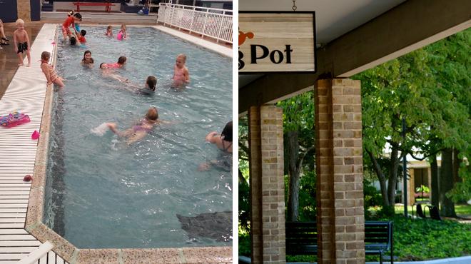 Pool ⇨ Fondue restaurant