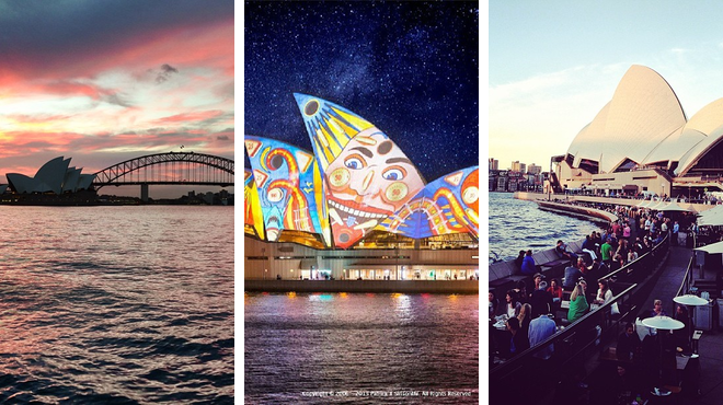 Scenic Views ⇨ Opera house ⇨ Delicious Cocktails