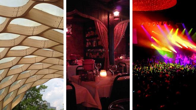Trail ⇨ French restaurant ⇨ Music venue