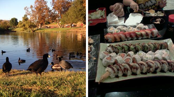 Park ⇨ Sushi restaurant