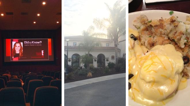 Catch a movie ⇨ Golf course ⇨ American restaurant