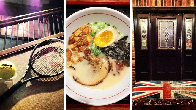 Golf course ⇨ Ramen / noodle house ⇨ Pub
