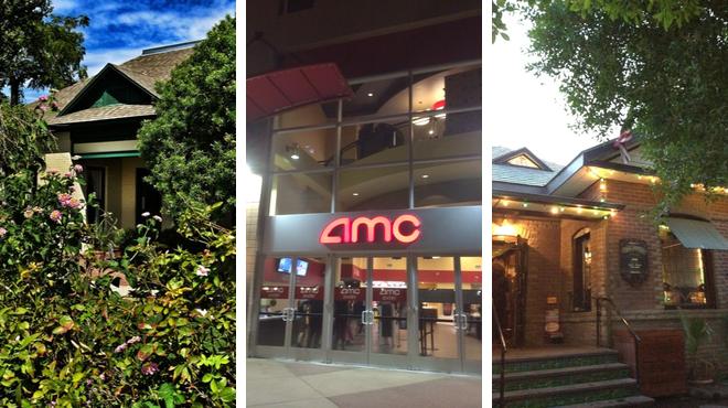 New american restaurant ⇨ Catch a movie ⇨ Bar