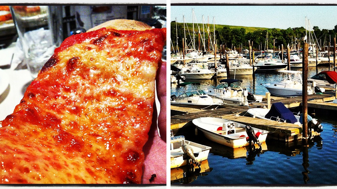 Pizza place ⇨ Harbor / marina