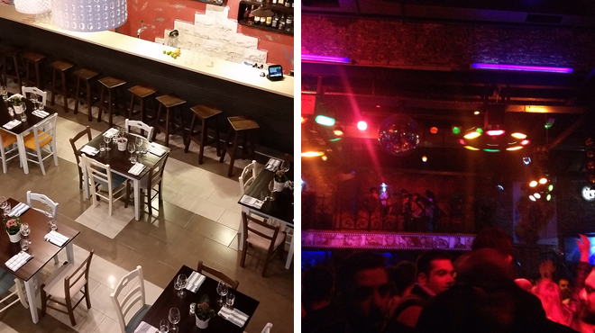 Mediterranean restaurant ⇨ Nightclub