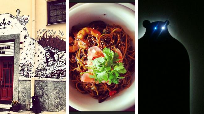 Catch a movie ⇨ Asian restaurant ⇨ Nightclub