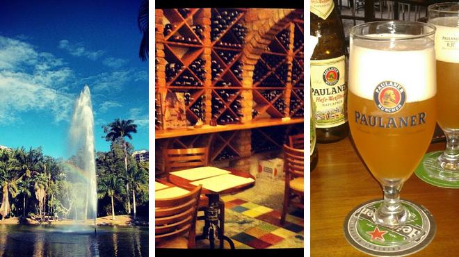 Park ⇨ Italian restaurant ⇨ Brewery