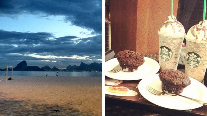 Beach ⇨ Coffee shop