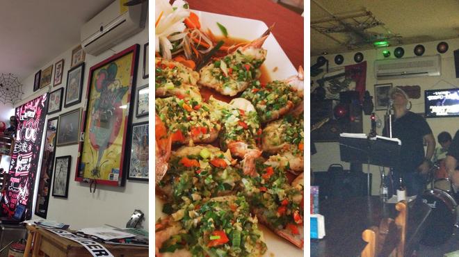 Admire local art ⇨ Taiwanese restaurant ⇨ Bar