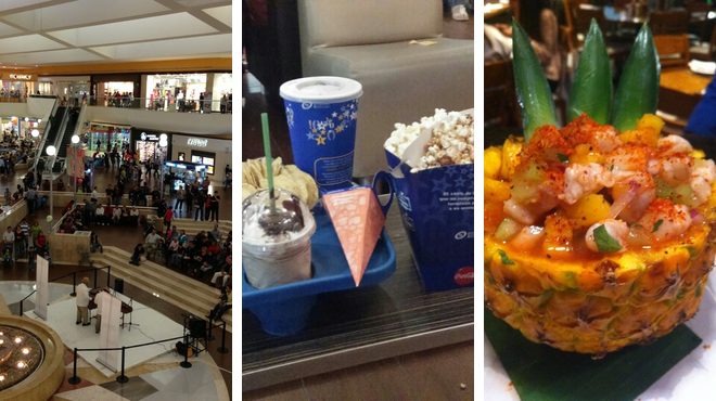 Mall ⇨ Catch a movie ⇨ Seafood restaurant