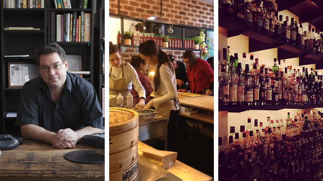 Bookstore ⇨ Dim sum restaurant ⇨ Whisky bar