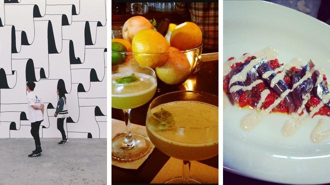 Admire art ⇨ Italian restaurant ⇨ Bar