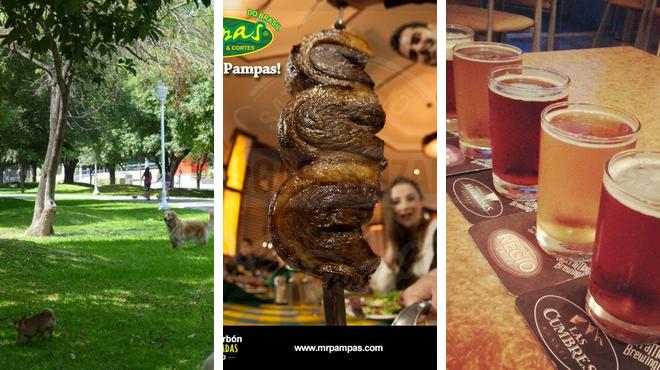 Park ⇨ Brazilian restaurant ⇨ Brewery