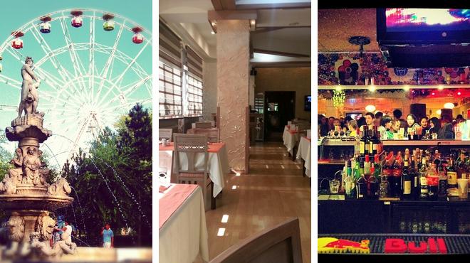 Park ⇨ Turkish restaurant ⇨ Nightclub