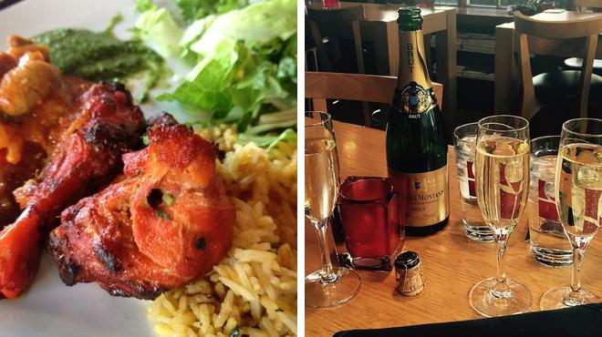 Indian restaurant ⇨ Wine bar