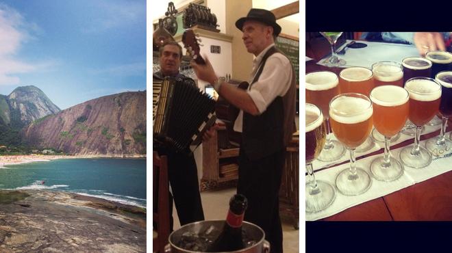 Beach ⇨ Italian restaurant ⇨ Brewery