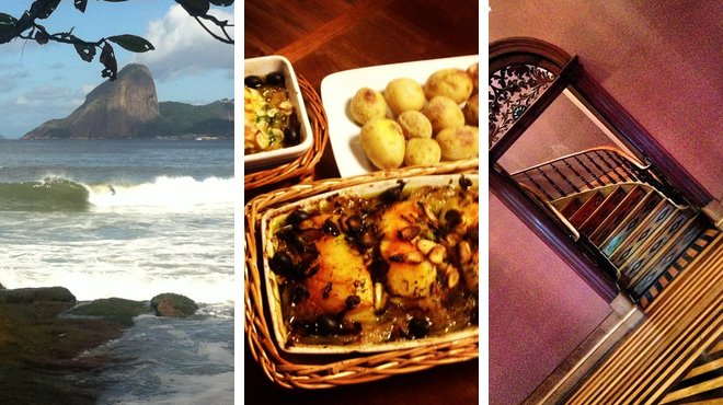 Beach ⇨ Portuguese restaurant ⇨ Admire art