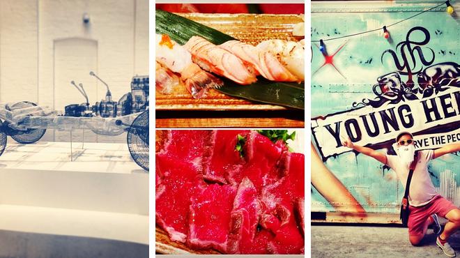 Admire art ⇨ Sushi restaurant ⇨ Brewery