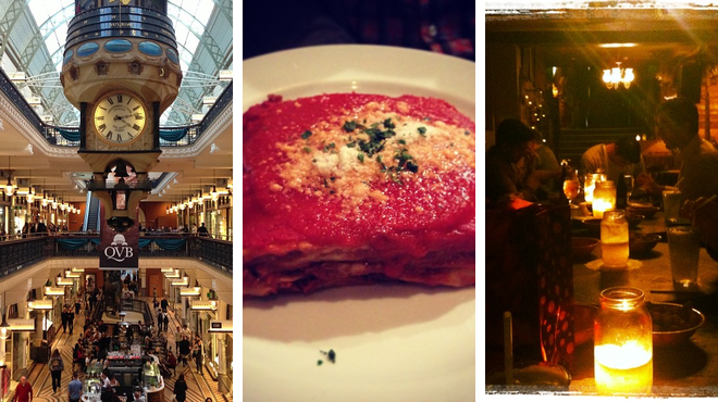Mall ⇨ Italian restaurant ⇨ Bar