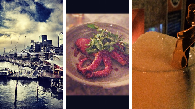 Harbor / marina ⇨ Greek restaurant ⇨ Delicious Cocktails