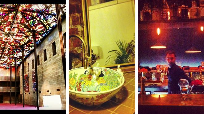 Admire art ⇨ Thai restaurant ⇨ Bar