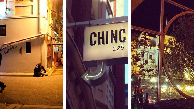 Jazz club ⇨ Asian restaurant ⇨ Wine bar