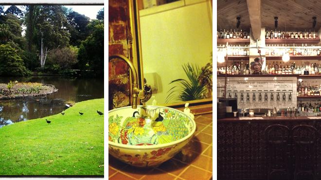 Botanical garden ⇨ Thai restaurant ⇨ Whisky bar