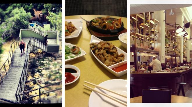 Trail ⇨ Vegetarian / vegan restaurant ⇨ Bar