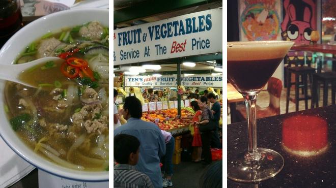 Asian restaurant ⇨ Flea market ⇨ Delicious Cocktails