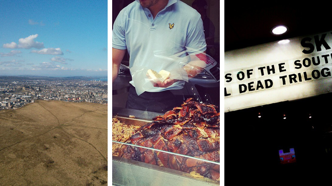 Mountain ⇨ Bbq joint ⇨ Catch a movie
