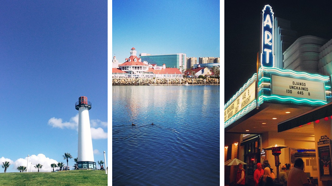 Lighthouse ⇨ Seafood restaurant ⇨ Catch a movie