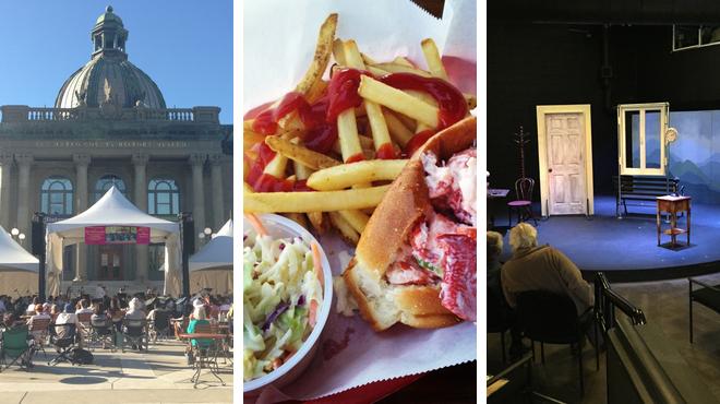 Plaza ⇨ Seafood restaurant ⇨ Theater