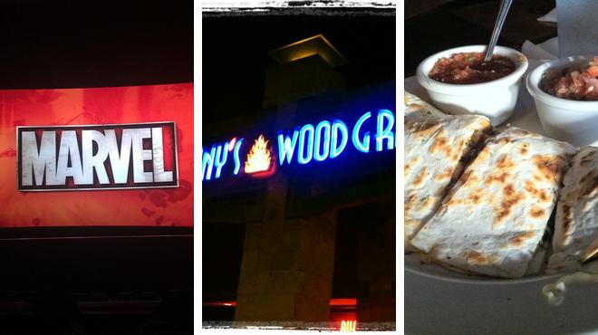 Catch a movie ⇨ American restaurant ⇨ Bar
