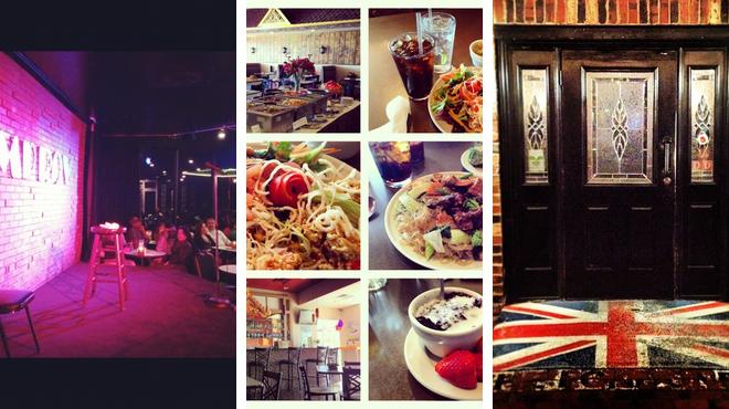 Laugh out loud ⇨ Thai restaurant ⇨ Pub