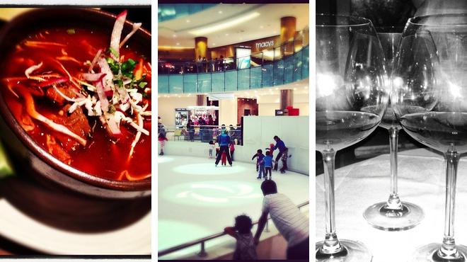 Mexican restaurant ⇨ Skating rink ⇨ Wine bar