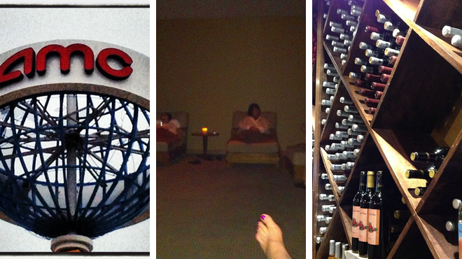 Catch a movie ⇨ Couple's Massage ⇨ Wine Tasting