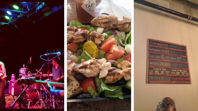 Music venue ⇨ Greek restaurant ⇨ Brewery