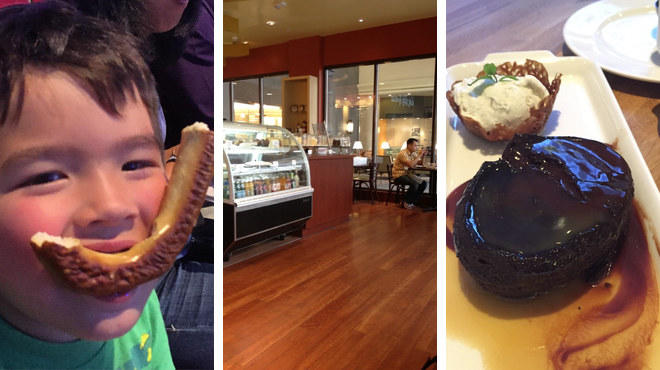 Theater ⇨ Cupcake shop ⇨ Bar